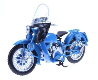 """Moto Guzzi Falcone """"Polizia Stradale"""" (1976) DeAgostini 1/24"""