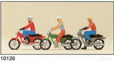 Motos con figuras Preiser 1/87