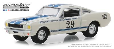 """Mustang Shelby GT350 nº 29 """"Escuela de carreras Carroll Shelby"""" Greenlight 1/64"""