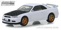 Nissan Skyline GT-R (BNR34) V-Spec II (2001) Greenlight 1/64