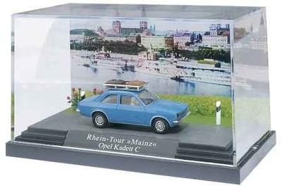 Opel Kadett C (1977) Mini-diorama Busch 1/87