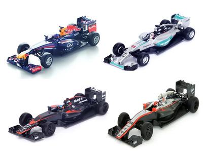 Pack de 4 Monoplazas de F1 Spark 1/64