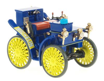 """Peugeot L'Eclair """"Primer modelo equipado con neumáticos"""" (1898) Altaya 1/43"""