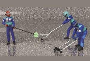 Pitstop Sauber Jack Set Control Salida (2002) Minichamps 1/18