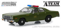 Plymouth Fury 1977 U.S. Policía (1967) Greenlight 1/43
