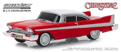 """Plymouth Fury """"Christine"""" versión diabólica con cristales tintados (1958) Greenlight 1/64"""
