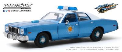 "Plymouth Fury Policía de Arkansas ""Smokey & The Bandit"" (1977) Greenlight 1/24"