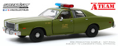 """Plymouth Fury Policia Militar USA """"El equipo A"""" (1977) Greenlight 1/24"""