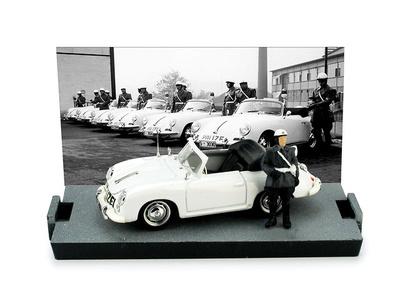 """Porsche 356 Cabriolet """"Policia Tedesca"""" (1952) Brumm 1/43"""
