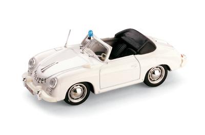 """Porsche 356C cabriolet """"Polizia Svizzera"""" (1952) Brumm 1/43"""