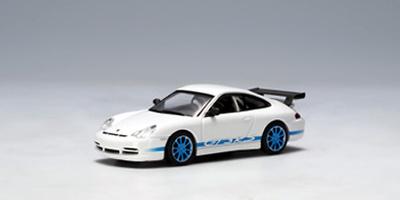 Porsche 911 GT3 RS llantas azules (2004) Autoart 1/64