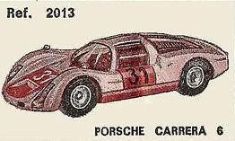 Porsche Carrera 6 Nacoral 1/43