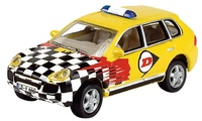 Porsche Cayenne Renntaxi Dunlop Schuco 1/87
