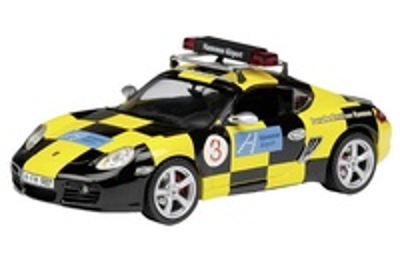 """Porsche Cayman S """"Follow Me"""" Schuco 1/43"""