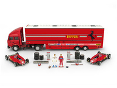 "Race Transporter Set Scuderia Ferrari ""GP. San Marino"" (1982) Brumm 1:43"