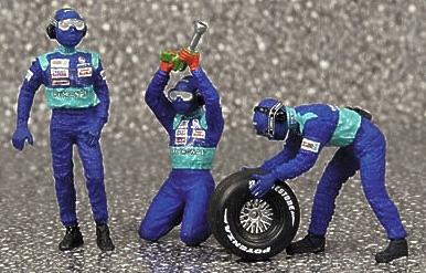 Sauber Pitstop Neumáticos delanteros (2002) Minichamps 1/43