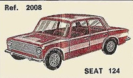 Seat 124 Nacoral 1/43