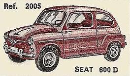 Seat 600 D Nacoral 1/43
