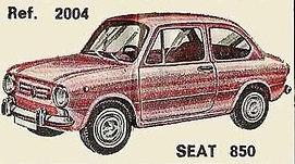Seat 850 Nacoral 1/43