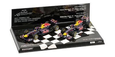 "Set 2 Red Bull RB7 ""Título de Constructores""' (2011) Minichamps 1:43"