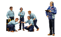 "Set de 6 figuras F1 Pit Crew  ""Team Tyrrell"" (1976) True Scale Model 1/18"