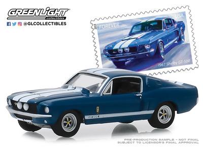 Shelby GT500 Servicio Postal de Estados Unidos (1967) Greenlight 1/64