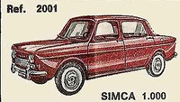 Simca 1000 Nacoral 1/43