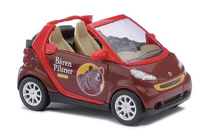 """Smart Fortwo Cabrio """"Bären Pilsner"""" (2007) Busch 1/87"""