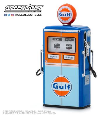 "Surtidor de gasolina Tokheim 350 ""Gulf"" Greenlight 1/18"