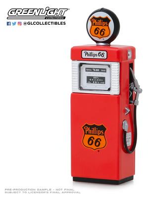 """Surtidor de gasolina Wayne 505 """"Philips 66"""" Greenlight 1/18"""