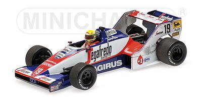 "Toleman Hart TG183B ""GP. Brasil"" nº 19 Ayrton Senna (1984) Minichamps 1/43"