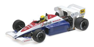 "Toleman Hart TG183B ""GP. Mónaco"" nº 9 Ayrton Senna (1984) Minichamps 1/18"
