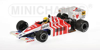 "Toleman Hart TG184 ""GP. Portugal"" nº 9 Ayrton Senna (1984) Minichamps 1/18"