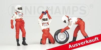 Toyota-Panasonic Pitstop Neumáticos delanteros (2002) Minichamps 1/43
