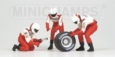 Toyota-Panasonic Pitstop Neumáticos traseros (2002) Minichamps 1/43