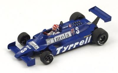 "Tyrrell 010 ""5º GP. Mónaco"" nº 3 Eddie Cheever (1981) Spark 1:43"