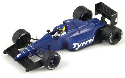 """Tyrrell 018 """"3º GP. México"""" nº 4 Michele Alboretto (1989) Spark 1/43"""