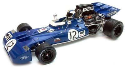 "Tyrrell Ford 003 ""GP. España"" nº 12 François Cevert (1971) Exoto 1/18"