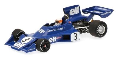 """Tyrrell Ford 007/1 """"GP. Suecia"""" nº 3 Jody Scheckter (1974) Minichamps 1/43"""