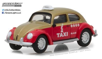 """Volkswagen Beetle """"Taxi ciudad de México"""" (1980) Greenlight 1/64"""