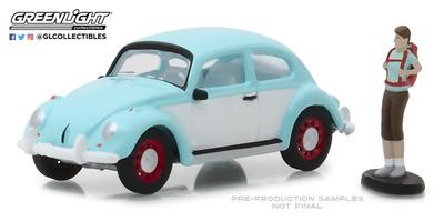 Volkswagen Beetle con figura excursionista Greenlight 1/64