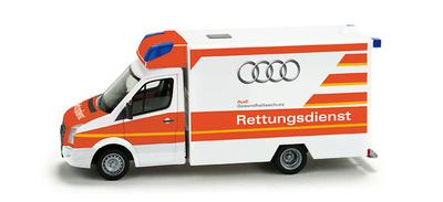 "Volkswagen Crafter Fahrtec RTW ""Audi rescue service"" Herpa 1/87"