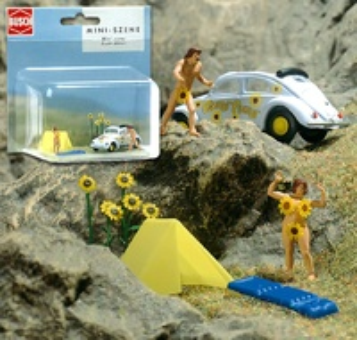 Volkswagen Escarabajo c/acc. Miniescena Busch 1/87