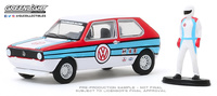 "Volkswagen Golf Mk1 ""Rabbit"" con piloto (1975) Greenlight 1/64"