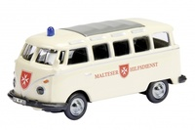 """Volkswagen T1 Ambulancia """"Malteser"""" (1960) Schuco 1/87"""