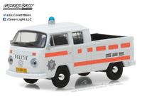 "Volkswagen T2 Cabina doble Pick-Up ""Policia Rotterdam de Holanda"" (1977) Greenlight 1/64"