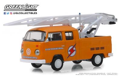 Volkswagen T2 Doble Cabina con escala (1972) Greenlight 1/64