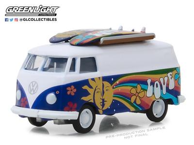 Volkswagen T2 furgoneta con tablas de Surf (1971) Greenlight 1/64