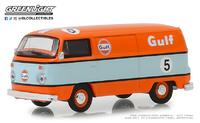 Volkswagen T2 nº 5 Gulf Oil Furgoneta (1975) Greenlight 1/64