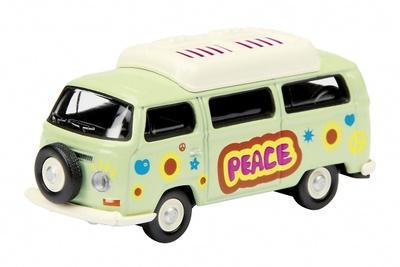 "Volkswagen T2a Campingbus ""Peace"" (1967) Schuco 1/87"